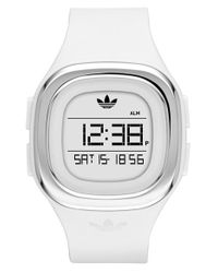 Adidas Originals | White Denver Digital Silicone Strap Watch for Men | Lyst