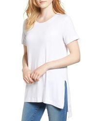 Amour Vert - White Paola High/low Tee - Lyst