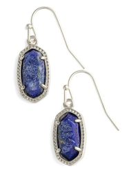 Kendra Scott | Blue 'lee' Small Drop Earrings | Lyst