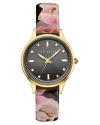 Ted Baker | Multicolor 'dress Sport' Patent Leather Strap Watch | Lyst
