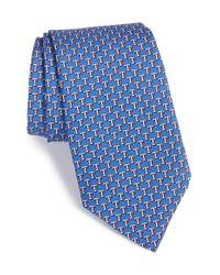 Vineyard Vines | Blue 'texas Rangers - Mlb' Print Silk Tie for Men | Lyst