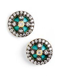 Freida Rothman - Green 'metropolitan' Small Stud Earrings - Lyst