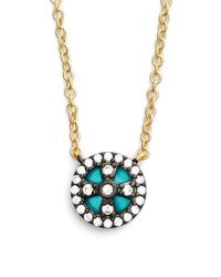 Freida Rothman | Metallic 'metropolitan' Small Pendant Necklace | Lyst