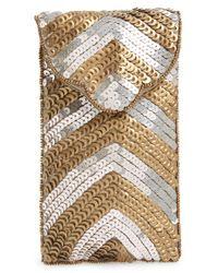 Berry | Metallic Foldover Chevron Sequin Sunglasses Case | Lyst