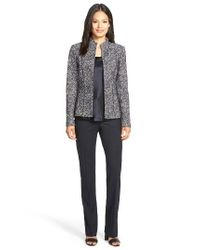 Lafayette 148 New York - Blue 'Barrow' Stretch Wool Pants - Lyst