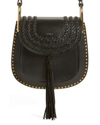 Chloé - Black Hudson Small Studded Leather Shoulder Bag - Lyst