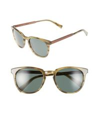 Ted Baker Brown 53mm Round Sunglasses for men