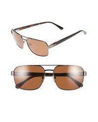 Ted Baker | Gray 59mm Polarized Navigator Sunglasses - Gunmetal for Men | Lyst