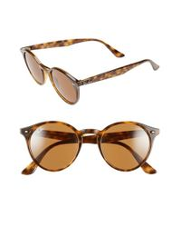 Ray-Ban | 49mm Round Sunglasses - Havana/ Brown for Men | Lyst