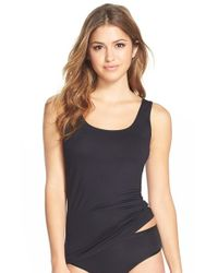 Hanro | Black 'soft Touch' Layering Tank | Lyst