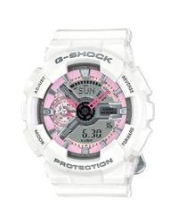 G-Shock - White G-shock 'ana-digi' Resin Watch - Lyst