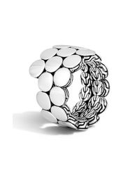 John Hardy - Metallic 'dot' Double Coil Ring - Lyst