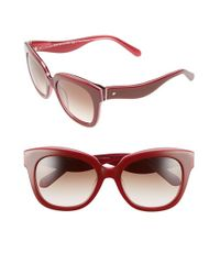 kate spade new york | Red 'amberly' 54mm Cat Eye Sunglasses | Lyst