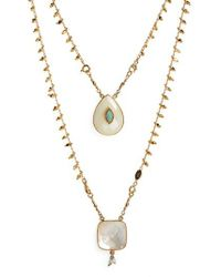 Gas Bijoux - White Scapulaire Convertible Semiprecious Stone Necklace - Lyst