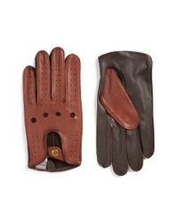John W. Nordstrom - Black John W. Nordstrom Leather Driving Gloves for Men - Lyst
