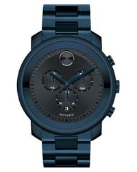Movado | Blue 'bold' Chronograph Bracelet Watch for Men | Lyst