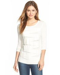 Vince Camuto | White Zigzag Sweater | Lyst
