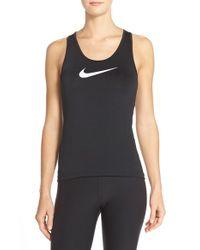 Nike | Black 'pro' Dri-fit Racerback Tank | Lyst