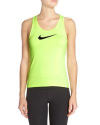 Nike | Green 'pro' Dri-fit Racerback Tank | Lyst