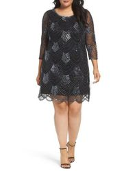 Pisarro Nights - Black Embellished Mesh Cocktail Dress - Lyst