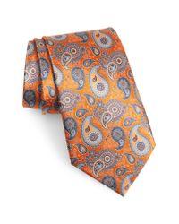 Ermenegildo Zegna - Multicolor Paisley Silk Tie for Men - Lyst