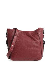 Vince Camuto - Red Fava Leather Bucket Bag - Burgundy - Lyst