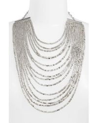 Karine Sultan - Metallic Joan Beaded Multistrand Necklace - Lyst