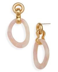 Madewell - Metallic Acrylic Link Earrings - Lyst