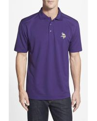 Cutter & Buck Purple 'Minnesota Vikings - Genre' Drytec Moisture Wicking Polo for men