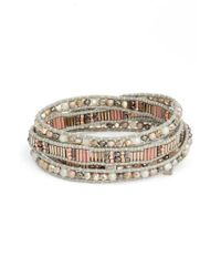 Nakamol - Metallic Beaded Wrap Bracelet - Lyst