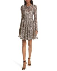 MILLY | Multicolor Aria Lace Fit & Flare Dress | Lyst