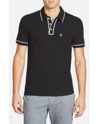 Original Penguin | Black 'earl' Pique Polo for Men | Lyst