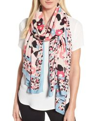 Kate Spade - Blue Blooming Oblong Scarf - Lyst
