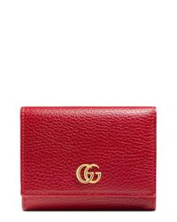 Gucci - Black Marmont Leather French Wallet - Lyst