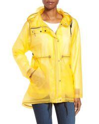 Hunter - Yellow 'original Smock' Hooded Drawstring Waterproof Jacket - Lyst