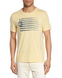 John Varvatos - Yellow Peace Flag Graphic T-shirt for Men - Lyst