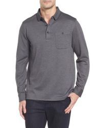 Bugatchi - Gray Classic Fit Pique Polo for Men - Lyst