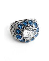 St. John - Blue Swarovski Crystal Cocktail Ring - Lyst