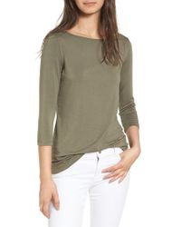 Amour Vert | Green Francoise Stretch Jersey Top | Lyst