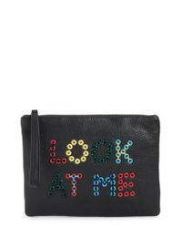 Sam Edelman - Black Layton Look At Me Embellished Pouch - Lyst