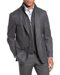 David Donahue | Gray Aaron Classic Fit Wool Blazer for Men | Lyst
