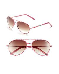 Lilly Pulitzer - Pink Lilly Pulitzer 'augusta' 57mm Sunglasses - Lyst
