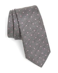 Topman | Gray Dot Woven Tie for Men | Lyst