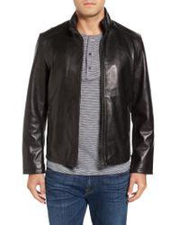 Cole Haan - Black Lamb Leather Jacket for Men - Lyst