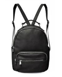 Urban Originals - Black On My Own Vegan Leather Backpack - - Lyst