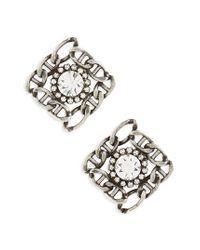 DANNIJO - Metallic Kassia Stud Earrings - Lyst