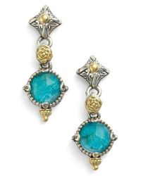 Konstantino - Blue 'iliada' Double Drop Earrings - Lyst