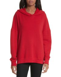 Joie - Red Adene Hooded Sweatshirt - Lyst