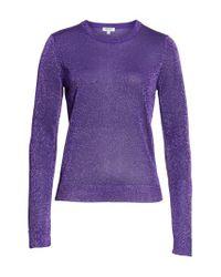 Lyst - KENZO Metallic Knit Sweater in Purple c6ef9ca51