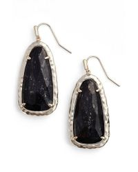 Kendra Scott | Black Lyn Drop Earrings | Lyst